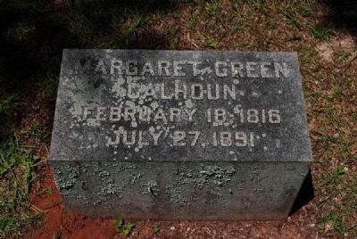 Margaret Green Calhoun Tombstone image. Click for full size.
