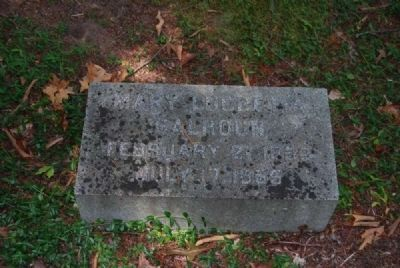 Mary Lucretia Calhoun Tombstone image. Click for full size.