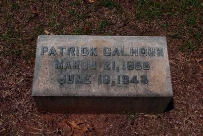 Patrick Calhoun Tombstone image. Click for more information.