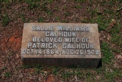Sallie Williams Calhoun Tombstone image. Click for full size.