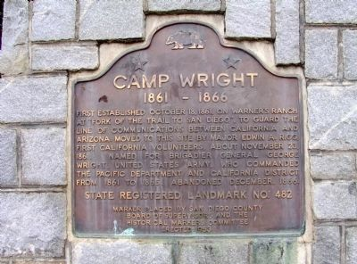 Camp Wright Marker Photo, Click for full size