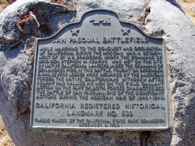 San Pasqual Battlefield Park Marker image. Click for full size.