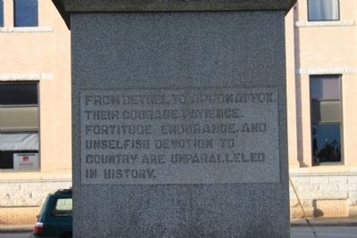 Iredell County Confederate Memorial Rear Inscription image. Click for full size.