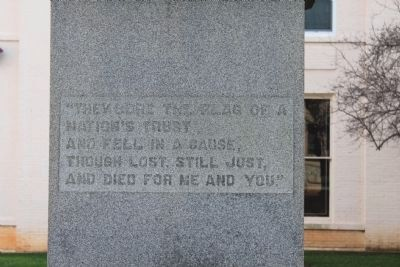Iredell County Confederate Memorial Side Inscription image. Click for full size.