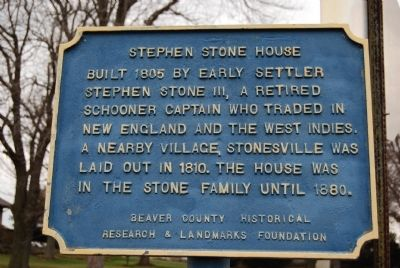 Stephen Stone House Marker image. Click for full size.