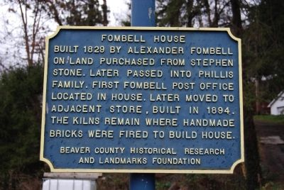 Fombell House Marker image. Click for full size.