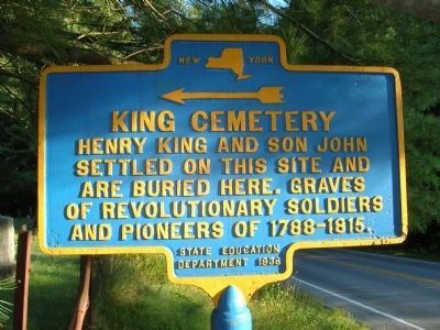 King Cemetery Marker image. Click for full size.