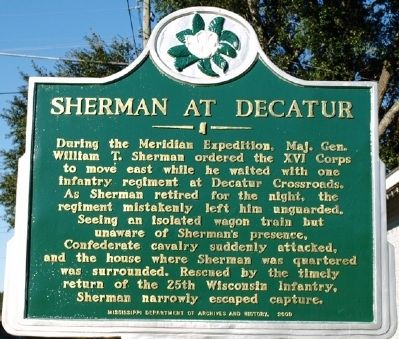 Sherman at Decatur Marker image. Click for full size.