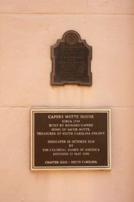 Capers Motte House Marker image. Click for full size.