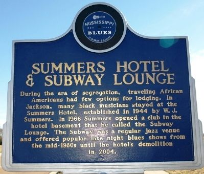 Summers Hotel & Subway Lounge Marker image. Click for full size.