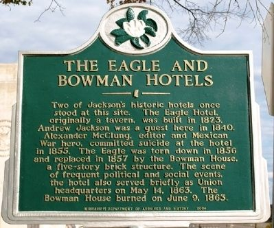 The Eagle and Bowman Hotels Marker image. Click for full size.