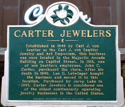 Carter Jewelers Marker image. Click for full size.