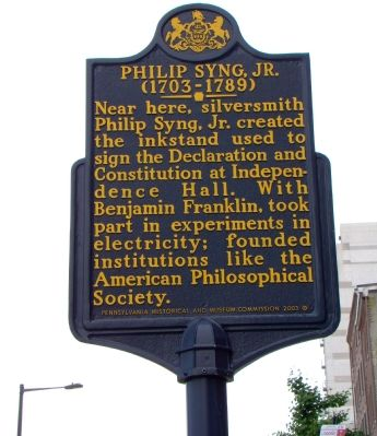 Philip Syng, Jr. Marker image. Click for full size.