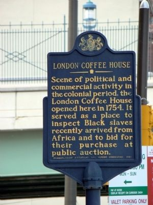London Coffee House Marker image. Click for full size.
