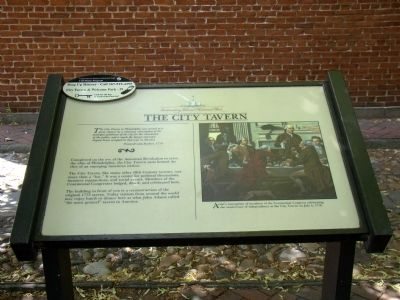 The City Tavern Marker image. Click for full size.