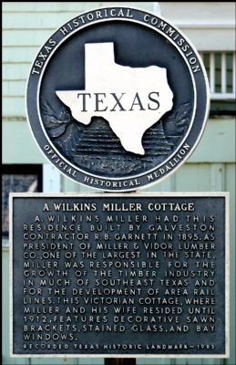 A. Wilkins Miller Cottage Marker image. Click for full size.