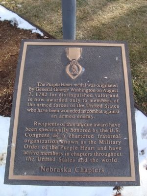 Purple Heart Marker image. Click for full size.