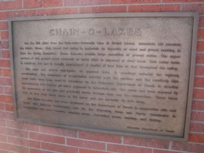 Chain – O – Lakes Marker image. Click for full size.