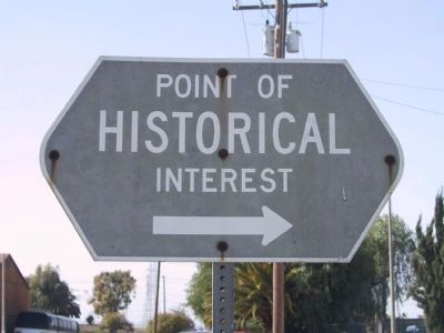 Point of Historical Interest Directional Sign Photo, Click for full size