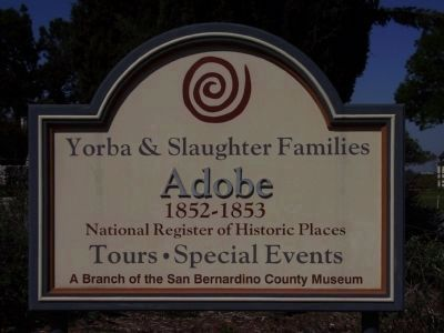 Yorba & Slaughter Families Adobe<br>1852 - 1853 Photo, Click for full size