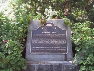 Kimberly Crest Marker image. Click for full size.