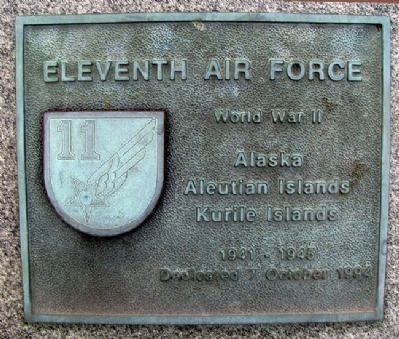 Eleventh Air Force Marker image. Click for full size.