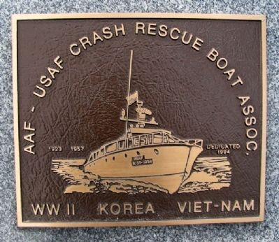 AAF - USAF Crash Rescue Boat Assn Marker Photo, Click for full size