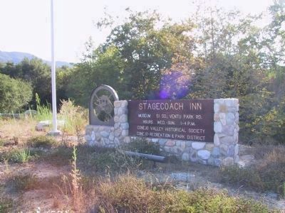 Stagecoach Inn Museum Sign at the Entrance image. Click for full size.