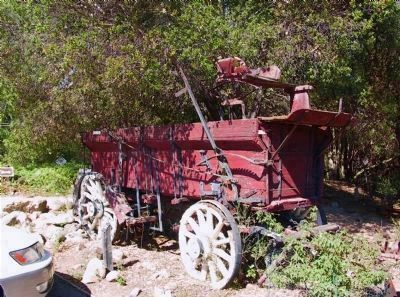 A Wagon is Part of the Tri-Village Living History Display image. Click for full size.
