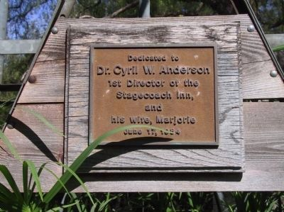 Dr. Cyril W. Anderson Dedication Plaque image. Click for full size.