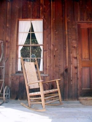 Newbury Pioneer House Front Porch image. Click for full size.