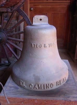 El Camino Real Bell on Display image. Click for full size.