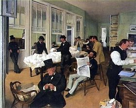 A Cotton Office in New Orleans by Edgar Degas, 1873 image. Click for full size.