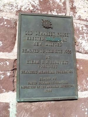 Old Demarest House Marker Photo, Click for full size
