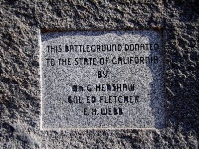 San Pasqual Battlefield Dedication Plaque image. Click for full size.