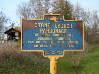 Stone Church Parsonage Marker image. Click for full size.