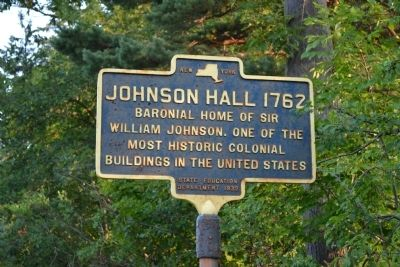 Johnson Hall 1762 Marker image. Click for full size.