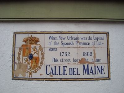 Calle du Maine Marker image. Click for full size.
