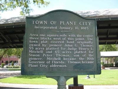 Town of Plant City Marker image. Click for full size.