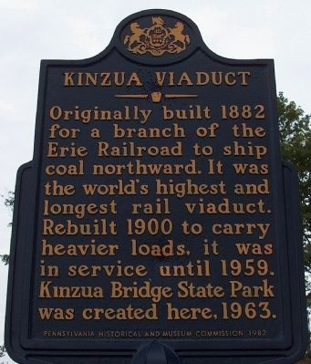 Previous Kinzua Viaduct Marker image. Click for full size.