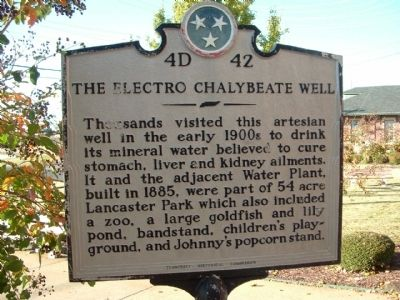 The Electro Chalybeate Well Marker Photo, Click for full size