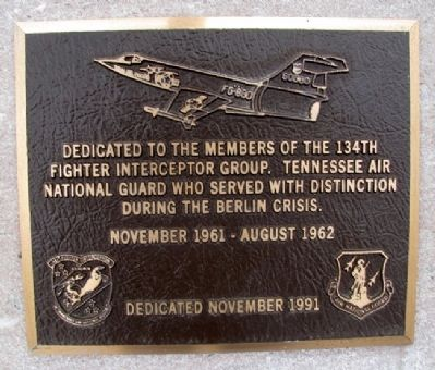 134th Fighter Interceptor Group Marker image. Click for full size.