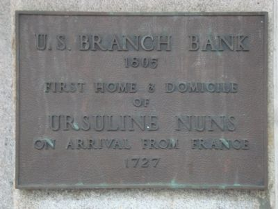U.S. Branch Bank Marker image. Click for full size.