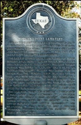 Morgan's Point Cemetery Marker image. Click for full size.