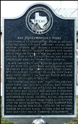 Bay Ridge / Morgan's Point Marker image. Click for full size.