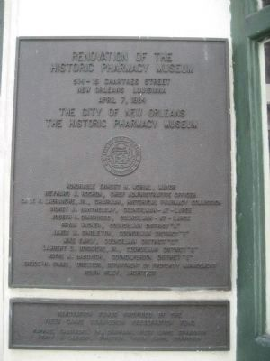 The Renovation Dedication Plaque image. Click for full size.