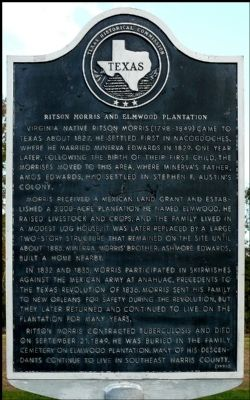 Ritson Morris and Elmwood Plantation Marker image. Click for full size.