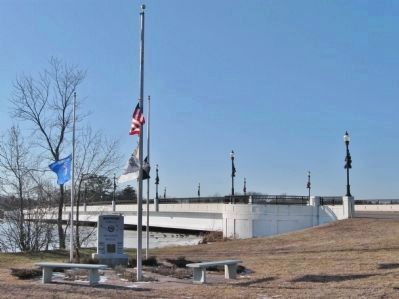 Airborne Forces Memorial Bridge and Marker image. Click for full size.