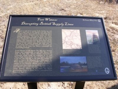 Fort Watson: Marker image. Click for full size.