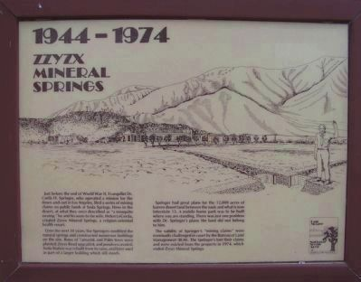 <i>Panel 7:</i> 1944 - 1974: Zzyzx Mineral Springs image. Click for full size.